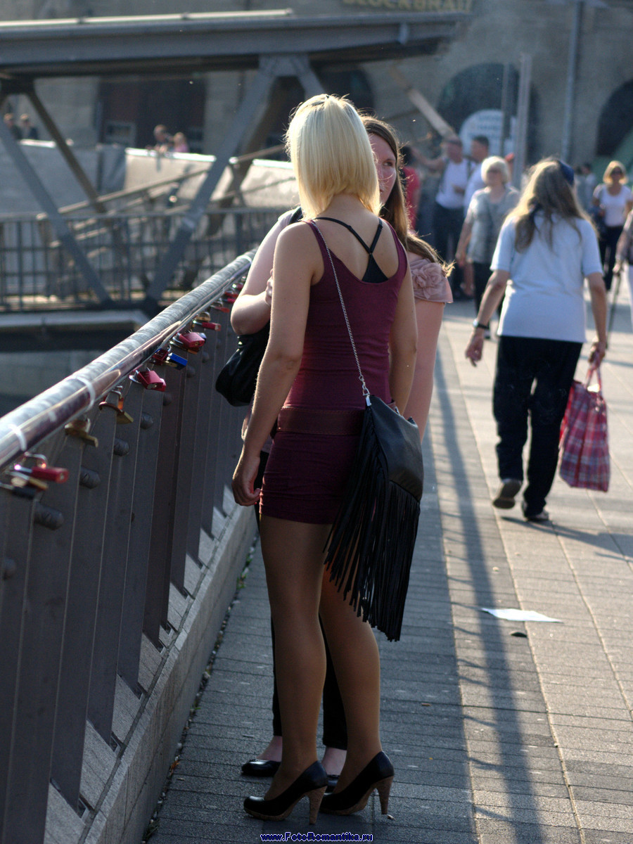 Asian upskirt outdoor blonde