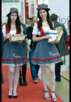 """Photo of publication """"Mosbuild- 11. Kaleidoscope."""", author Эдуард@fotovzglyad, Tags: [exhibitions, MosBuild, exhibitions in 2011, events, white tights (pantyhose)]"""