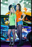 """Photo of publication """"Tuning Show 2014. Kaleidoscope Part 2"""", author Эдуард@fotovzglyad, Tags: [exhibitions, Moscow Tuning Show, exhibitions in 2014, events, black tights (pantyhose), Denim shorts]"""