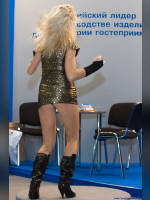 """photo from the publication """"PIR.The hospitality industry"""", author Эдуард@fotovzglyad, Tags: [exhibitions, heels, boots below the knee, black boots, events of 2008, panties black, dancing, dress green, dress, dress very short (mini-dress), Feast, hospitality industry, dress fitting, tight, slinky, events]"""