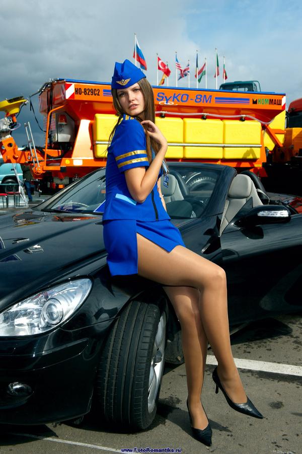 "Moscow motor show 2008 - ""flight attendants"" stand Azard :: Эдуард@fotovzglyad"