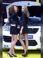 """photo from the publication """"MMAS-12. Mansory- 2."""", author Эдуард@fotovzglyad, Tags: [exhibitions, pantyhose (tights) skin color, Moscow International Motor Show, events of 2012, car, events, Anna (Anya) Eshenko, car show]"""