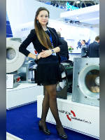 """photo from the publication """"Climate world - 17. p.3"""", author Эдуард@fotovzglyad, Tags: [exhibitions, pantyhose (tights) black, short dress, The World Climate, standing cross-legged, black dress, events, events of 2017, Anastasia (Nastya) Chirukhina]"""