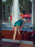 """photo from the publication """"Graduates'2010 - continued"""", author Cat Eye, Tags: [Moscow, fountain, Victory Park, Russia, graduates, white panties, high slit, outdoor, outdoor, schoolgirl, events]"""