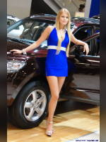 """photo from the publication """"Girls Hyundai (assorted)"""", author Сергей, Tags: [exhibitions, heels, cleavage, car, Interauto and MIMS, dress blue, sandals, events of 2007, events, girls Hyundai, car show]"""