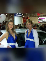"""photo from the publication """"Girls Hyundai (assorted)"""", author Stentory, Tags: [exhibitions, cleavage, car, Interauto and MIMS, dress blue, events of 2007, events, girls Hyundai, car show]"""