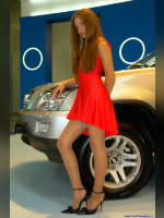"""photo from the publication """"Alice Gondarenko and Brilliance M2"""", author Вовчик, Tags: [exhibitions, stocking tops visible, Interauto and MIMS, events of 2007, Alice Gondarenko, stockings, skin-color, events, girls Atlant-M Asia, car show]"""