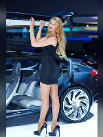 """photo from the publication """"MIAS-14. Julia-2."""", author Эдуард@fotovzglyad, Tags: [exhibitions, events of 2014, pantyhose (tights) skin color, shoes black, heels, Moscow International Motor Show, car, standing cross-legged, high heels, events, pantyhose (tights) sheer, transparent, heel popping/dangling, stiletto heels, Julia Tymoshenko, car show]"""