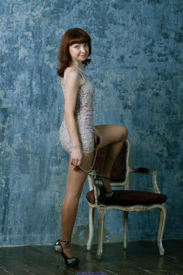 More Alenka in a very short mini-dress :: Kostya Romantikov