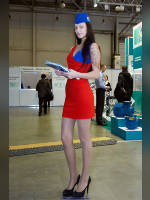 """photo from the publication """"AQUATERM-12.Kaleidoscope.h.7"""", author Эдуард@fotovzglyad, Tags: [exhibitions, , pantyhose (tights) skin color, short dress, shoes black, heels, events of 2012, red dress, events]"""