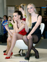 """photo from the publication """"Photoforum-10. Sony. Three."""", author Эдуард@fotovzglyad, Tags: [exhibitions, pantyhose (tights) skin color, stocking tops visible, stockings black, events of 2010, PhotoForum, Lera Sobolev, events, girls Sony, pantyhose (tights) sheer, transparent]"""