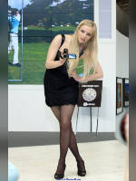 """photo from the publication """"Photoforum-10. Sony. Lera."""", author Эдуард@fotovzglyad, Tags: [exhibitions, standing cross-legged, events of 2010, PhotoForum, stockings black pattern, Lera Sobolev, events]"""