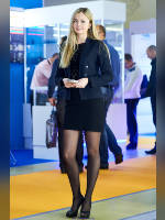 """photo from the publication """"INTERLIGHT-15. Anna."""", author Эдуард@fotovzglyad, Tags: [exhibitions, pantyhose (tights) black, short dress, shoes black, blonde, black dress, high heels, Anna (Anya) Haiduk, events, events of 2016, ]"""