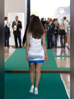 """photo from the publication """"MMAS-10. Subaru."""", author Эдуард@fotovzglyad, Tags: [exhibitions, pantyhose (tights) skin color, Moscow International Motor Show, events of 2010, dress very short (mini-dress), dress fitting, tight, slinky, events, pantyhose (tights) sheer, transparent, Subaru girls, car show]"""