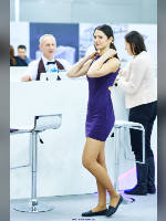 """photo from the publication """"Batimat Russia - 15. Kaleidoscope Part 5"""", author Эдуард@fotovzglyad, Tags: [exhibitions, pantyhose (tights) skin color, pantyhose (tights) with glitter, dress very short (mini-dress), events, pantyhose (tights) sheer, transparent, events of 2015, ]"""