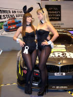 """photo from the publication """"Essen Motorshow 2014 - Playmates Bernadette Kaspar and Victoria Paschold"""", author Klaus, Tags: [exhibitions, pantyhose (tights) black, cleavage, Germany, events, PlayBoy bunny outfit, Essen, , , bare shoulders, car show]"""