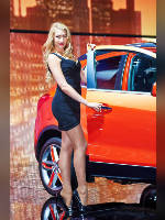 """photo from the publication """"MIAS-14. Julia-2."""", author Эдуард@fotovzglyad, Tags: [exhibitions, events of 2014, pantyhose (tights) skin color, shoes black, heels, Moscow International Motor Show, car, standing cross-legged, high heels, events, pantyhose (tights) sheer, transparent, heel popping/dangling, stiletto heels, Julia Tymoshenko, high arched feet, car show]"""