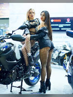 """photo from the publication """"Motovesna-2019. Nastya K-2."""", author Эдуард@fotovzglyad, Tags: [exhibitions, pantyhose (tights) fishnet black, short shorts, shoes black, black shorts, tight shorts, high heels, events, sitting sideways on a motorcycle, mesh pantyhose (tights) black large, Motovesna, car show, , events of 2019]"""
