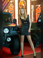 """photo from the publication """"Tuning-12. Hell. Angelina."""", author Эдуард@fotovzglyad, Tags: [exhibitions, pantyhose (tights) skin color, Moscow Tuning Show, short dress, shoes black, heels, events of 2012, car, black dress, events, car show]"""