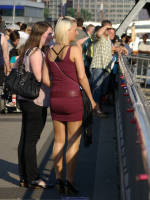 """photo from the publication """"Hot blonde with shiny pantyhose"""", author Klaus, Tags: [pantyhose (tights) skin color, blonde, outdoor, outdoor, Germany, Europe]"""