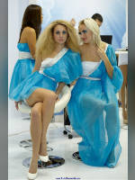 """photo from the publication """"Intercharm-11. fall Part 9"""", author Эдуард@fotovzglyad, Tags: [exhibitions, heels, events of 2011, Intercharm, sitting legs crossed, dress very short (mini-dress), events, evening dress]"""
