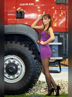 """photo from the publication """"BOAT SHOW -12. Lika."""", author Эдуард@fotovzglyad, Tags: [exhibitions, pantyhose (tights) black, cleavage, Boats and Yachts (MIBS), events of 2012, black bra, car, purple dress, dress very short (mini-dress), events, Angelica Bessonova]"""