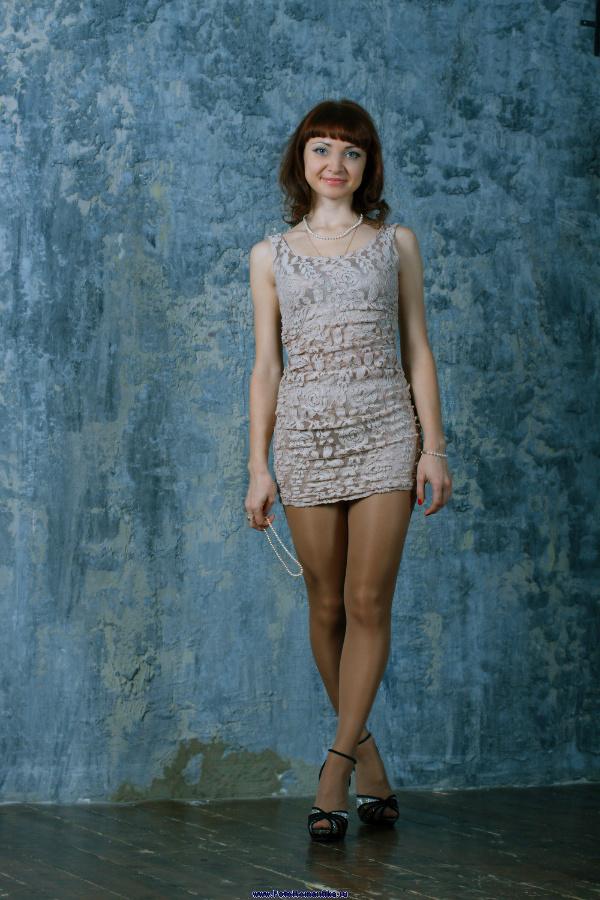 More Alenka in a very short mini-dress :: Kostya Romantikov