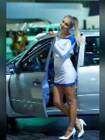 "photo from the publication ""MMAS-12. WHA. Anya."", author Эдуард@fotovzglyad, Tags: [exhibitions, Anna (Anya) Kasyanova, short dress, heels, dress white, Moscow International Motor Show, shoes white, events of 2012, car, blonde, events, girls AvtoVAZ, car show]"