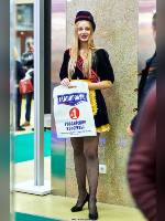 """photo from the publication """" Prodexpo-20. Kaleidoscope part 2"""", author Эдуард@fotovzglyad, Tags: [exhibitions, pantyhose (tights) fishnet black, short dress, shoes black, heels, Prodexpo, black dress, in the promo-uniform, events, events of 2020]"""
