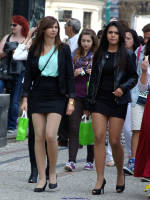 """photo from the publication """"Young girls with long legs"""", author Klaus, Tags: [pantyhose (tights) skin color, outdoor, outdoor, Germany, high heels, Europe]"""