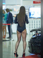 """photo from the publication """"Tuning Show 2013. Part 5"""", author Эдуард@fotovzglyad, Tags: [exhibitions, Moscow Tuning Show, pantyhose (tights) fishnet black, shoes black, events of 2013, platform heels, overall (catsuit) black with a pattern, events, car show]"""