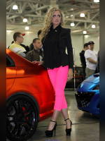 """photo from the publication """"Tuning SHOW'13: the girls of the exhibition"""", author meovoto, Tags: [exhibitions, Moscow Tuning Show, events of 2013, Lily (Lilya) Bozina, events, car show]"""