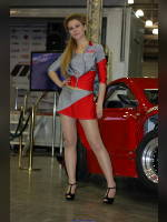 """photo from the publication """"Tuning SHOW'13: the girls of the exhibition"""", author meovoto, Tags: [exhibitions, pantyhose (tights) skin color, Moscow Tuning Show, events of 2013, short skirt (miniskirt), events, pantyhose (tights) sheer, transparent, car show]"""