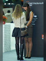 """photo from the publication """"COMTRANS 2013. Kaleidoscope part 10"""", author Эдуард@fotovzglyad, Tags: [exhibitions, pantyhose (tights) skin color, pantyhose (tights) black, events of 2013, Comtrans, pantyhose (tights) with glitter, long legs, events, pantyhose (tights) sheer, transparent, stiletto heels, car show]"""