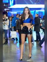 """photo from the publication """"IgroMir-13. Kaleidoscope part 14"""", author Эдуард@fotovzglyad, Tags: [exhibitions, shoes black, heels, IgroMir, events of 2013, the skirt is very short, black skirt, naked legs, long legs, Asya Puschenko, events, halter (cut-off) top, ]"""