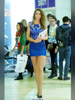 """photo from the publication """"RIW- 13. Stranger."""", author Эдуард@fotovzglyad, Tags: [exhibitions, pantyhose (tights) skin color, short dress, events of 2013, dress blue, Russian Internet Week (RIW), dress fitting, tight, slinky, events, pantyhose (tights) sheer, transparent]"""