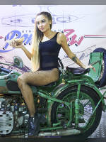 """photo from the publication """"MotoZima 2017. Kaleidoscope part 1"""", author Эдуард@fotovzglyad, Tags: [exhibitions, motorcycle (bike), pantyhose (tights) fishnet black, one piece swimsuit/leotard, black swimsuit/leotard, events, astride a motorcycle, Motozima, events of 2017, car show, ]"""