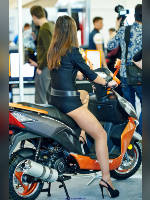 """photo from the publication """"Motopark-14. Kaleidoscope part 2"""", author Эдуард@fotovzglyad, Tags: [exhibitions, events of 2014, motorcycle (bike), pantyhose (tights) skin color, shoes black, black shorts, Motor Park, tight shorts, pantyhose (tights) with glitter, pantyhose (tights) with glitter, events, pantyhose (tights) sheer, transparent, car show]"""
