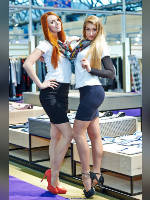 """photo from the publication """"CPM- 14. Spring. ch.20"""", author Эдуард@fotovzglyad, Tags: [exhibitions, events of 2014, pantyhose (tights) skin color, stocking tops visible, , stockings, skin-color, Nadezhda (Nadia) Neyasova, events, Julia Tymoshenko]"""