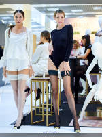 """photo from the publication """"CPM-19. Spring. FALKE-3. """", author Эдуард@fotovzglyad, Tags: [exhibitions, stockings white, stocking tops visible, stockings black, , in lingerie, events, events of 2019]"""