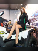 """photo from the publication """"MotoZima 2017. Alesya."""", author Эдуард@fotovzglyad, Tags: [exhibitions, motorcycle (bike), pantyhose (tights) skin color, shoes black, heels, events, pantyhose (tights) sheer, transparent, sitting sideways on a motorcycle, Motozima, events of 2017, Alesya Trushnikova, car show, ]"""