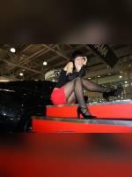 """photo from the publication """"Yokohama """", author NIK, Tags: [exhibitions, pantyhose (tights) black, Interauto and MIMS, Interauto and MIMS, events of 2009, events of 2009, events, girls Yokohama, Ieva Sharshukova, car show]"""