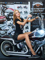 """photo from the publication """"Motovesna 2016. Elena."""", author Эдуард@fotovzglyad, Tags: [exhibitions, motorcycle (bike), pantyhose (tights) skin color, shoes black, heels, black shorts, blonde, t-shirt black, events, pantyhose (tights) sheer, transparent, astride a motorcycle, events of 2016, Motovesna, car show, ]"""