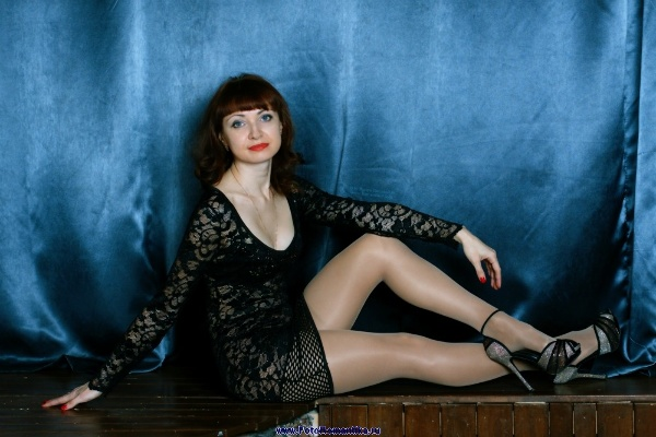 Black, short, transparent dress, high heels, shiny pantyhose :: Kostya Romantikov