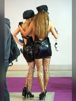 """photo from the publication """"INTERAUTO-13. Kaleidoscope part 4"""", author Эдуард@fotovzglyad, Tags: [exhibitions, short dress, shoes black, heels, stocking tops visible, Interauto and MIMS, stockings fishnet black, events of 2013, black dress, cap, events, car show]"""